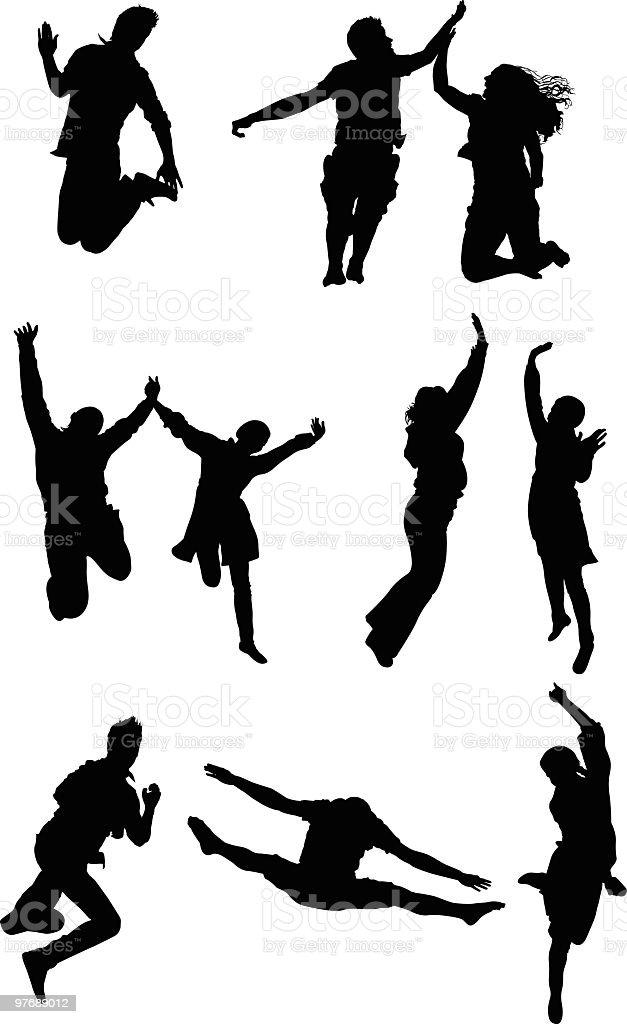 Hurray! We are so happy. royalty-free stock vector art