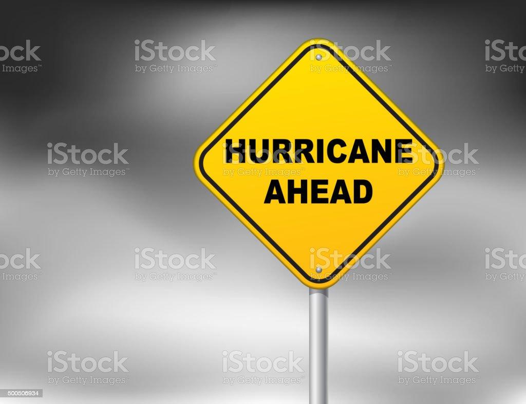 Hurricane ahead vector art illustration