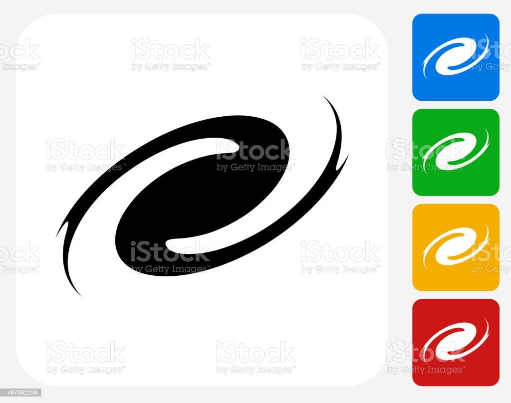 Hurricane Icon Flat Graphic Design vector art illustration