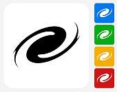 Hurricane Icon Flat Graphic Design