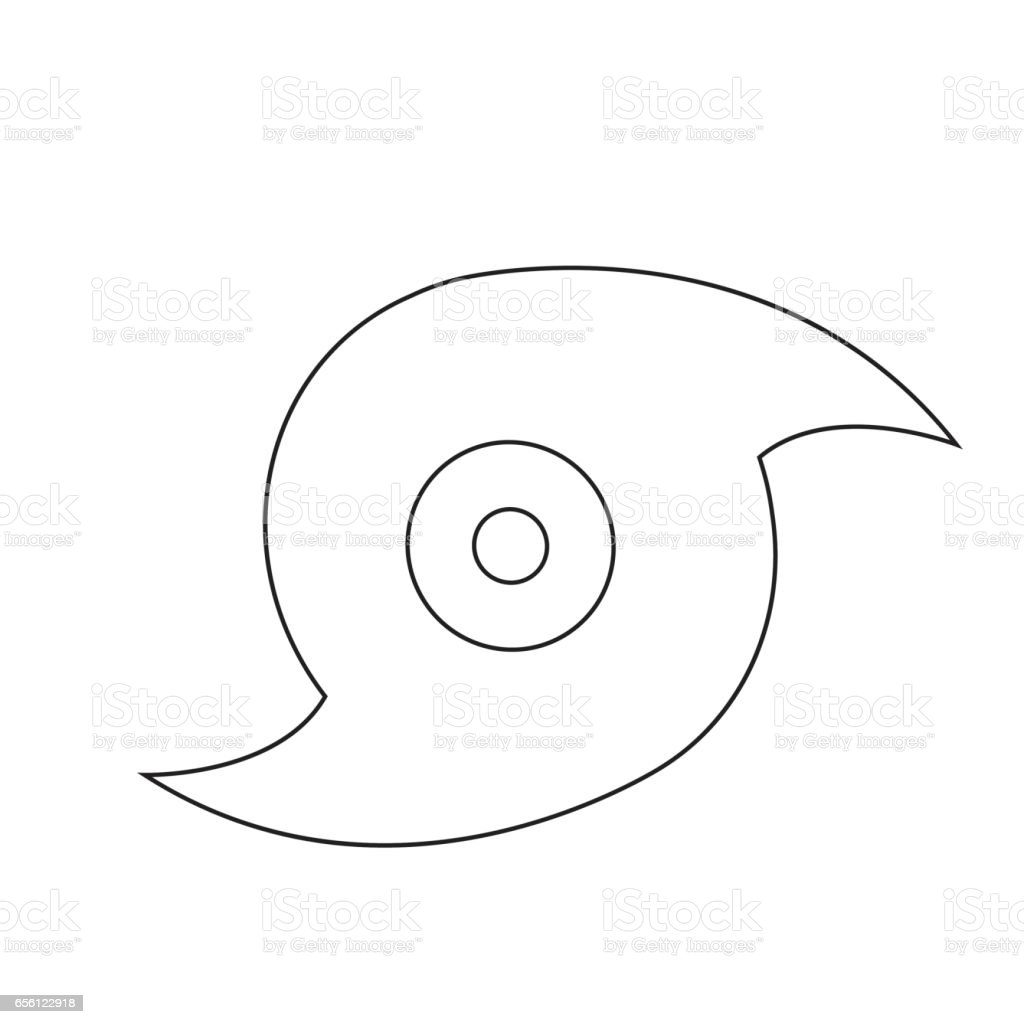 Hurricane icon illustration design vector art illustration