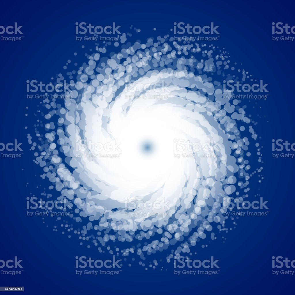 Hurricane vector art illustration