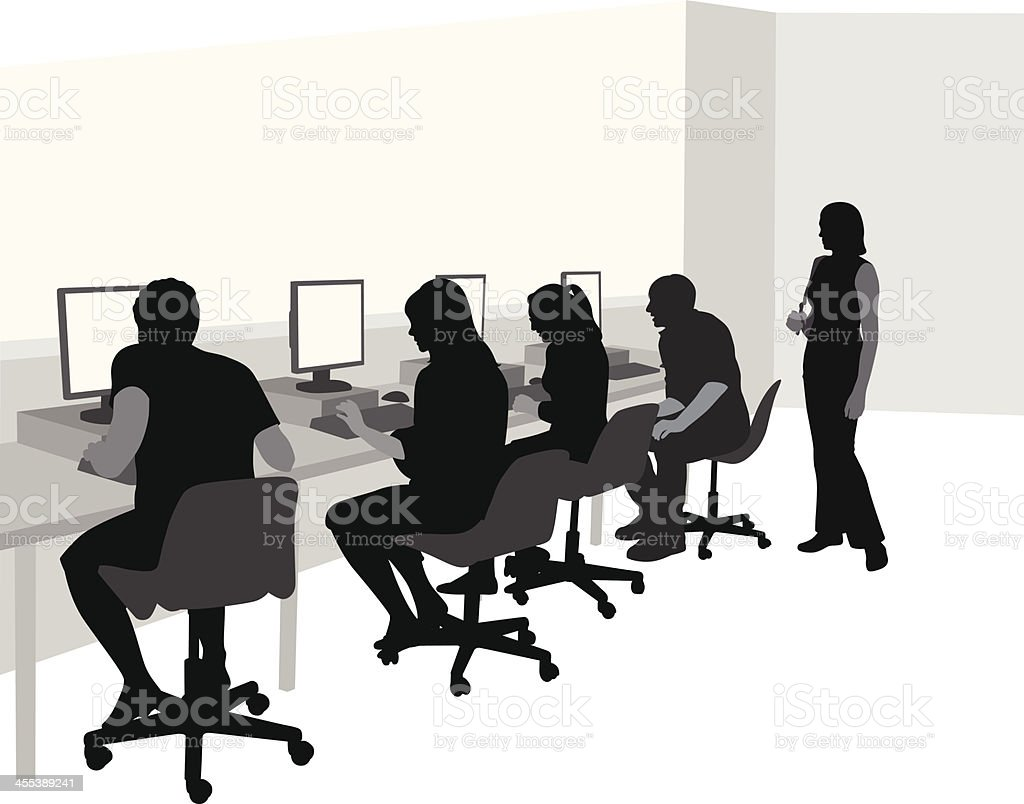Hurry Up Vector Silhouette royalty-free stock vector art
