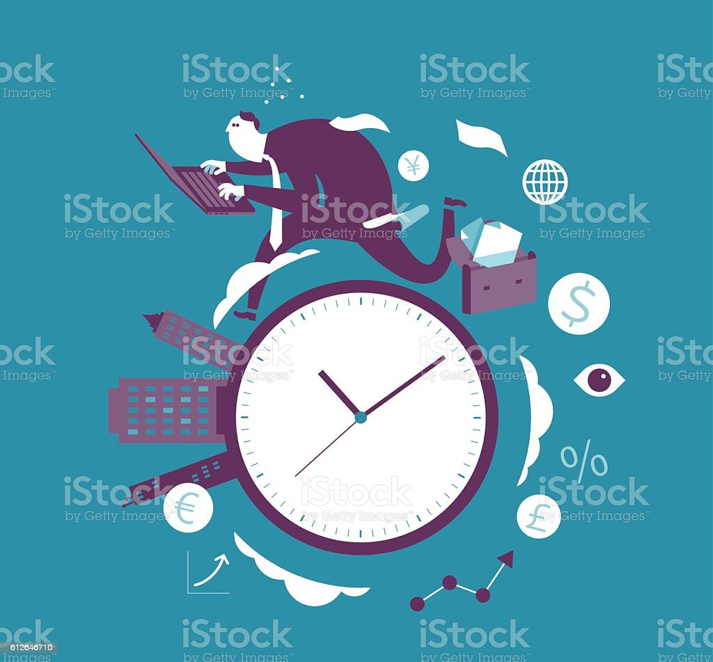 Hurry vector art illustration