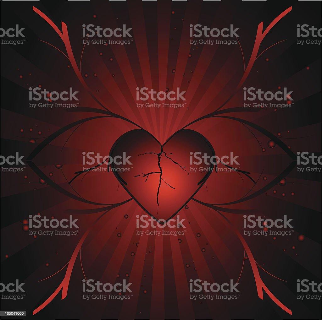 Hurt heart royalty-free stock vector art