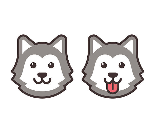 Sled Dog Clip Art, Vector Images & Illustrations - iStock