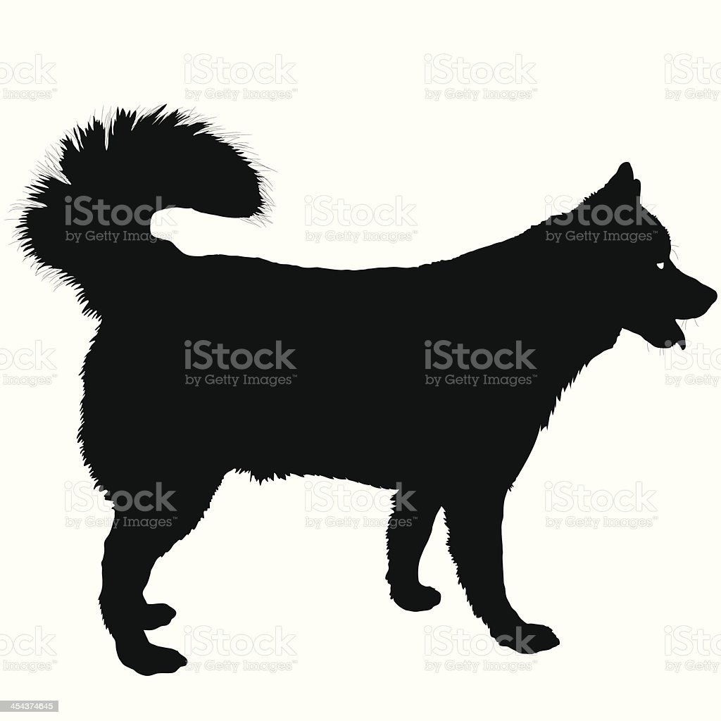 Husky Silhouette royalty-free stock vector art