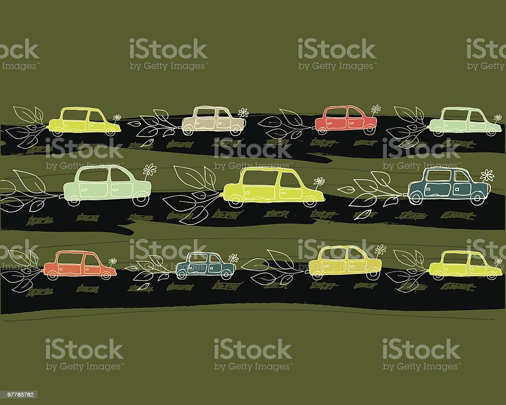 hybrid cars royalty-free stock vector art
