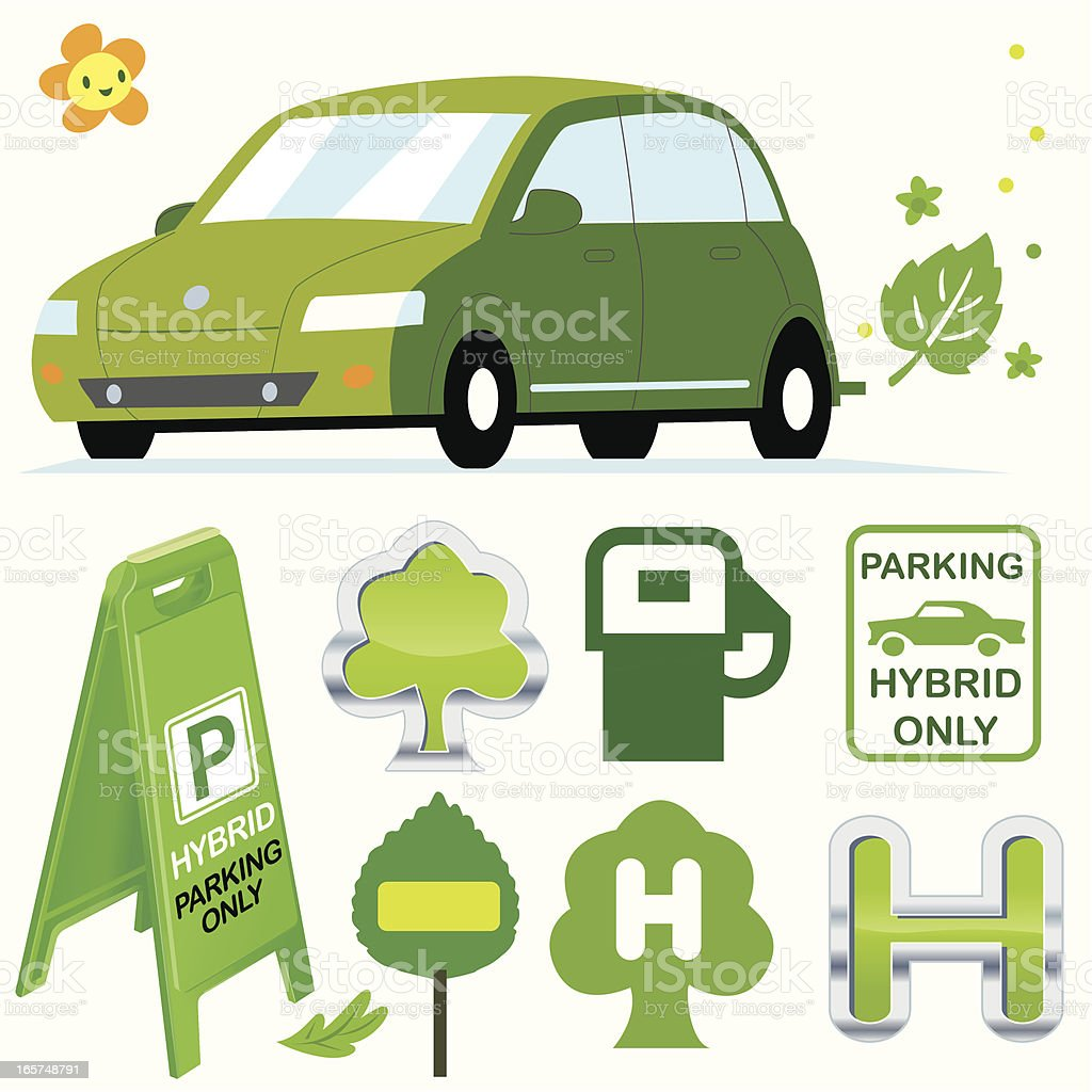 Hybrid Vehicles only royalty-free stock vector art