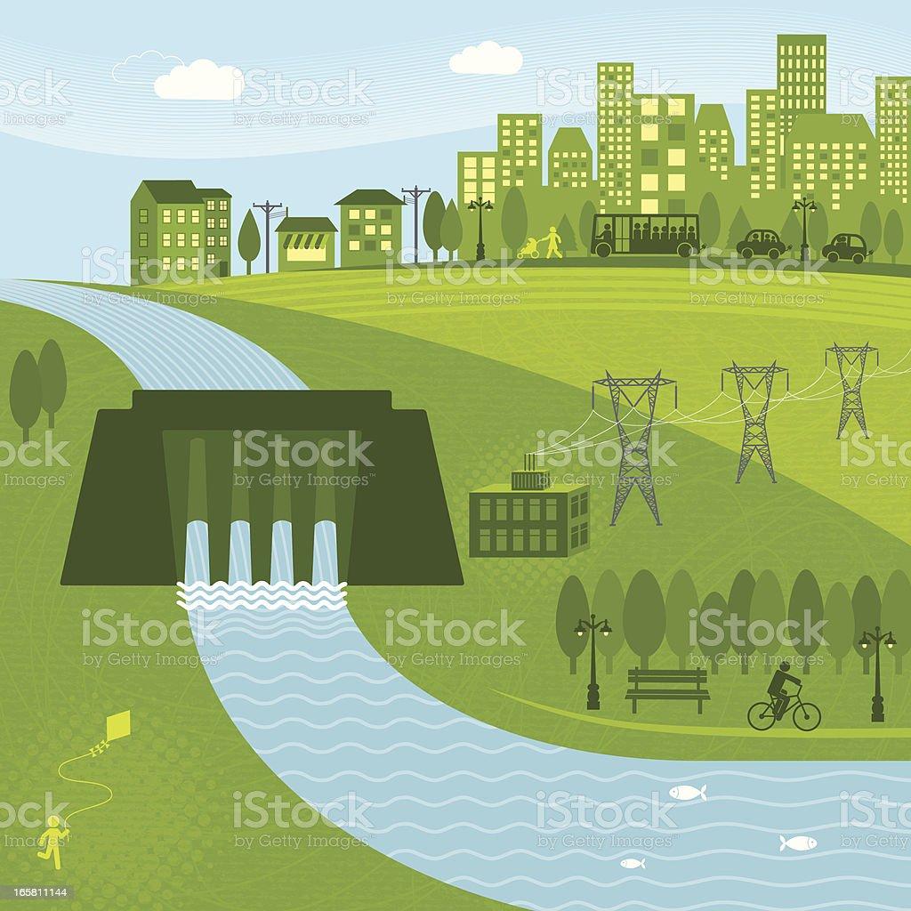 Hydro Energy royalty-free stock vector art