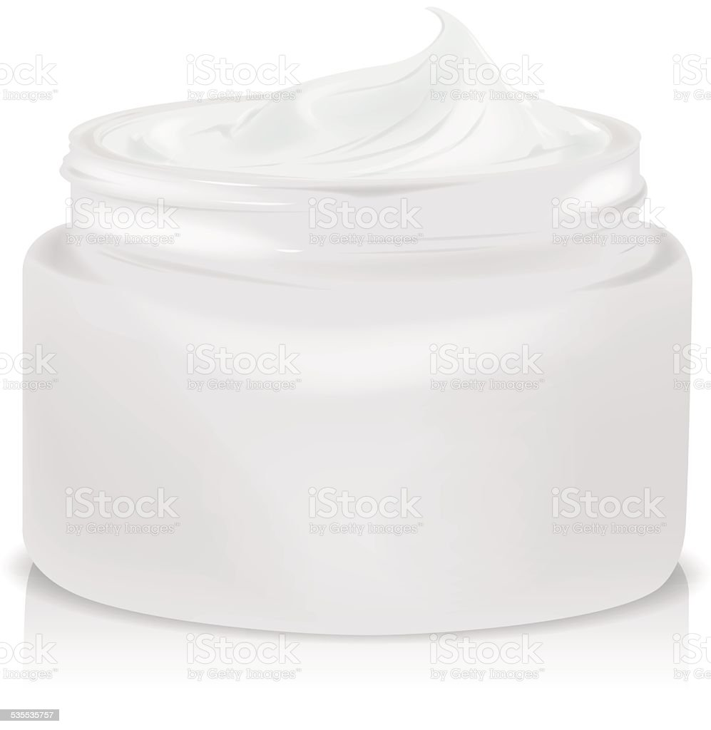 Hygienic cream vector art illustration
