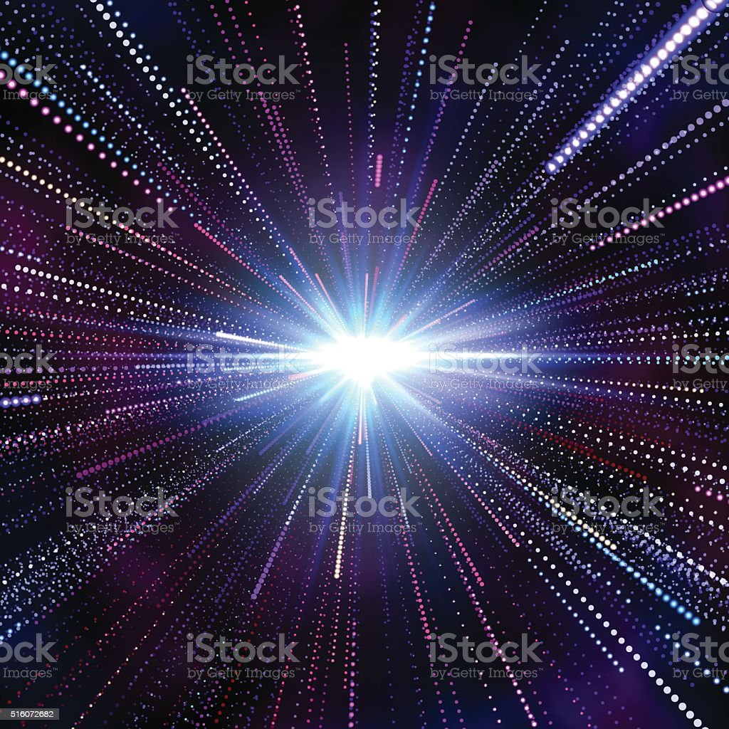 Hyperspace Abstract Background vector art illustration