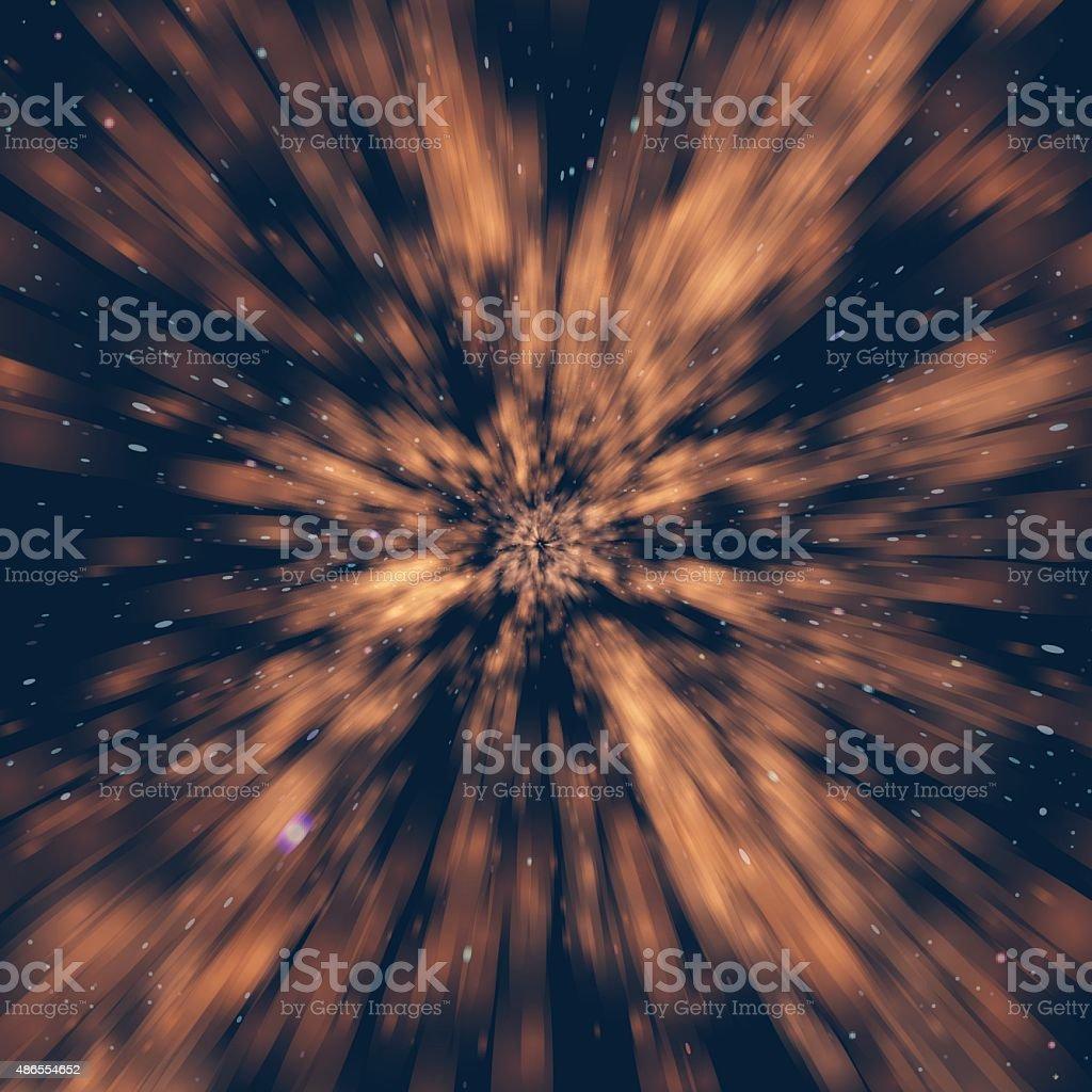 Hyperspace Light Tunnel vector art illustration