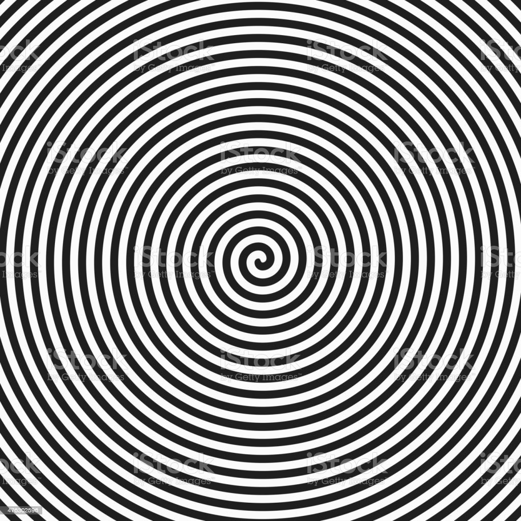 Hypnosis spiral vector art illustration