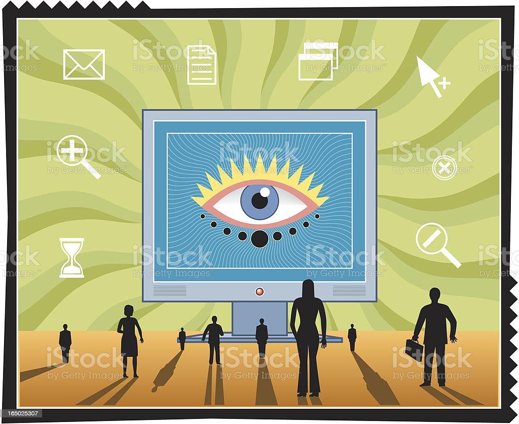 Hypnotized vector art illustration