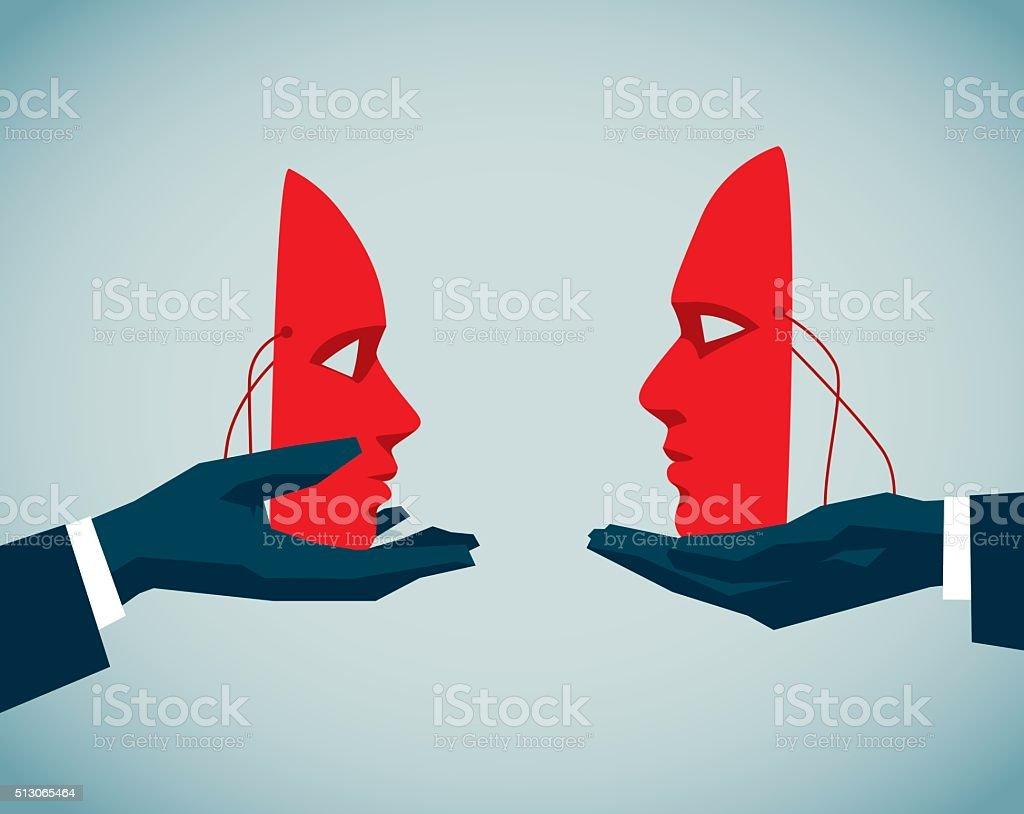 Hypocrisy vector art illustration
