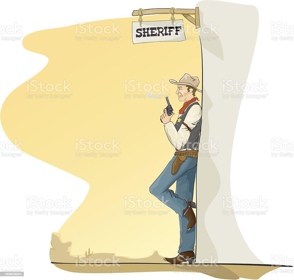 i am the law vector art illustration