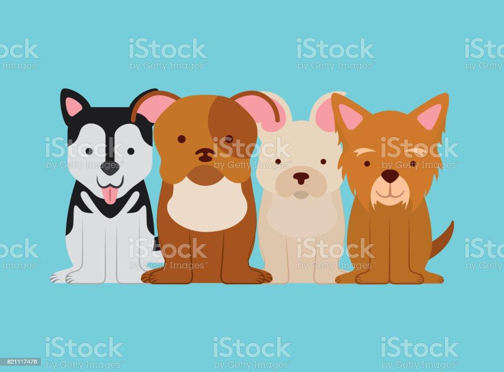i love dog life vector art illustration