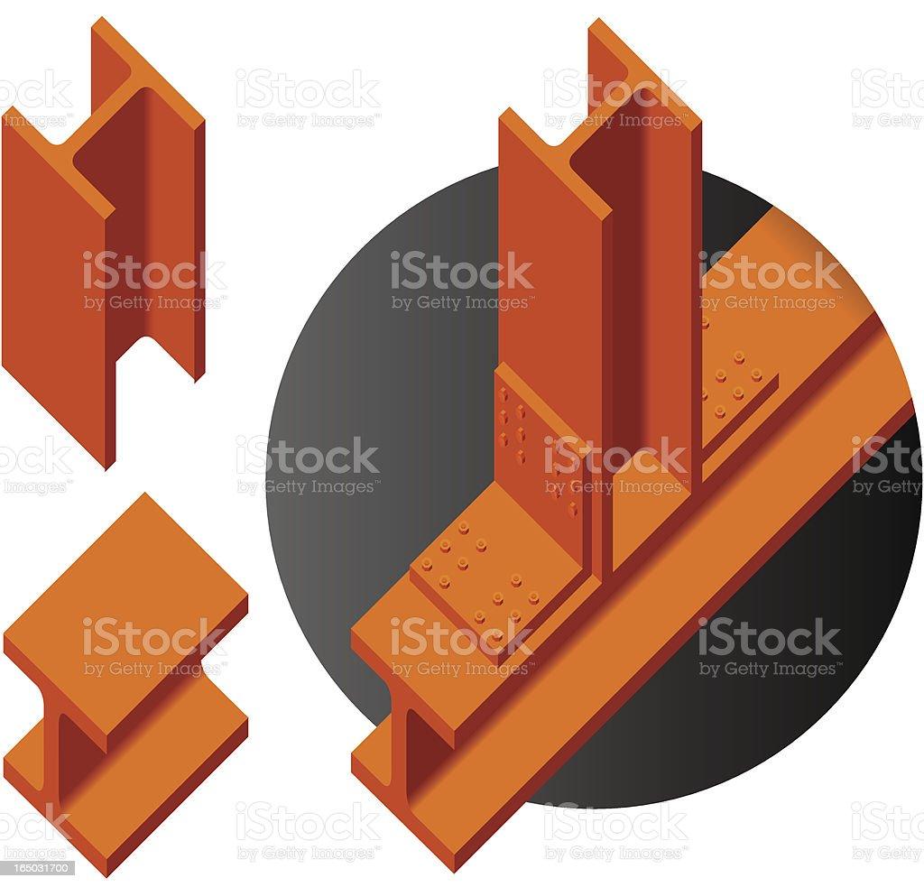 i-beams royalty-free stock vector art