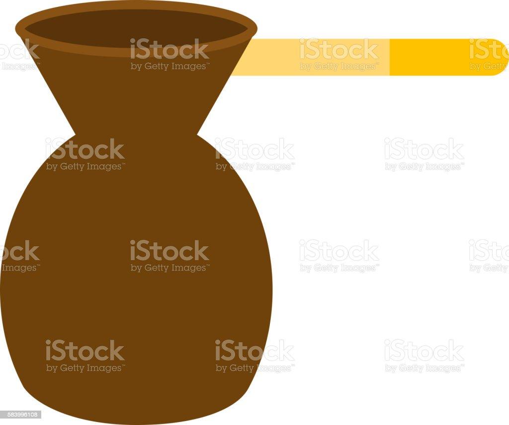 Ibrik cezve coffee time vector art illustration