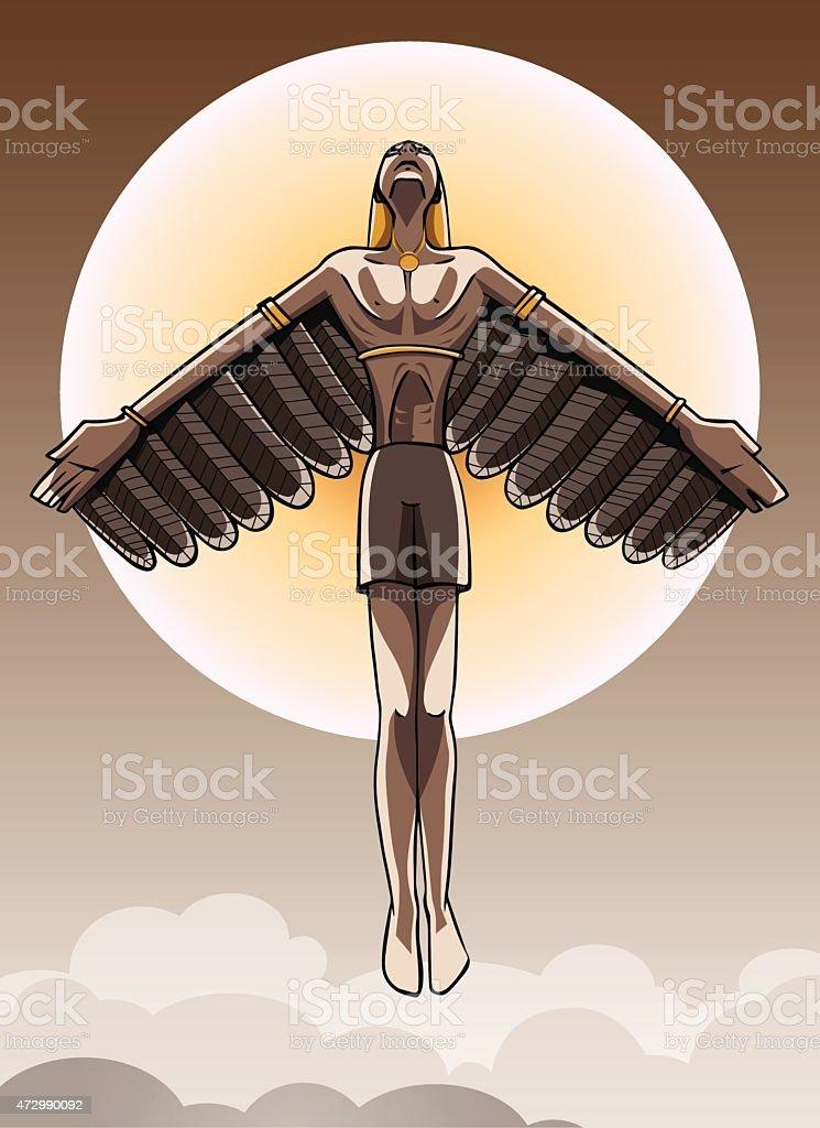 Icarus vector art illustration