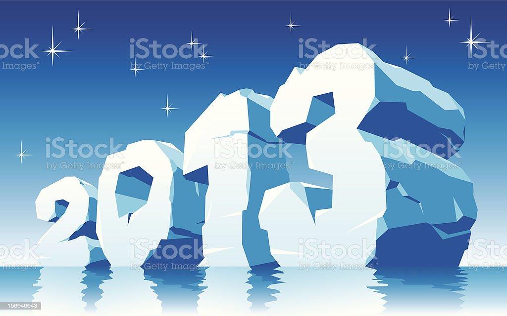 ice 2013 royalty-free stock vector art