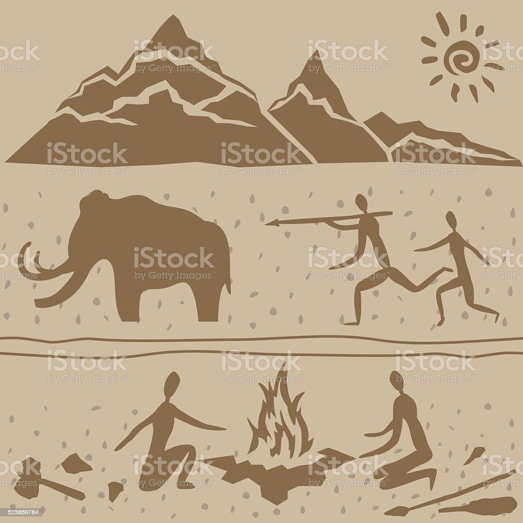 ice age vector art illustration