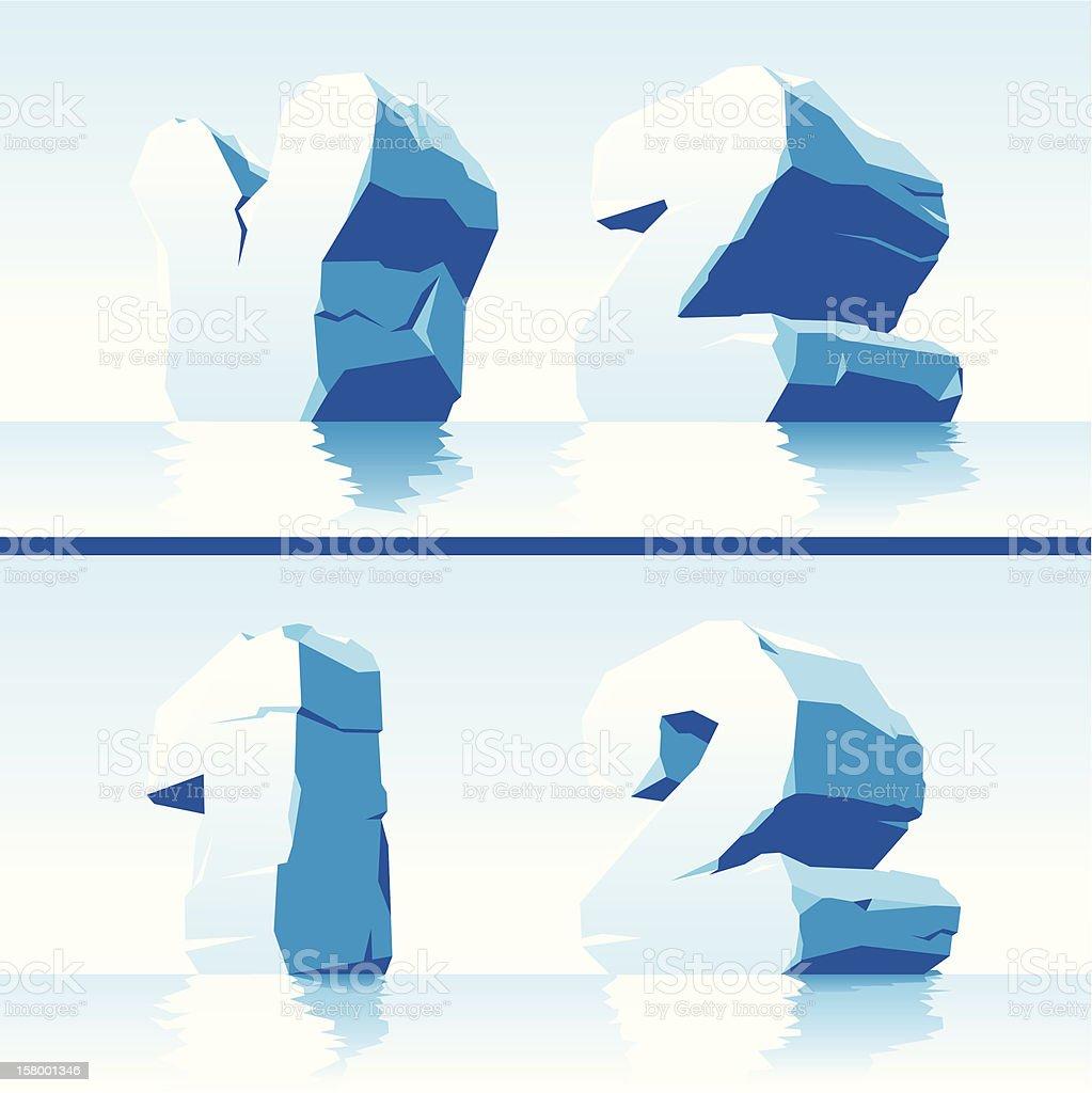 Ice alphabet Part 7 royalty-free stock vector art