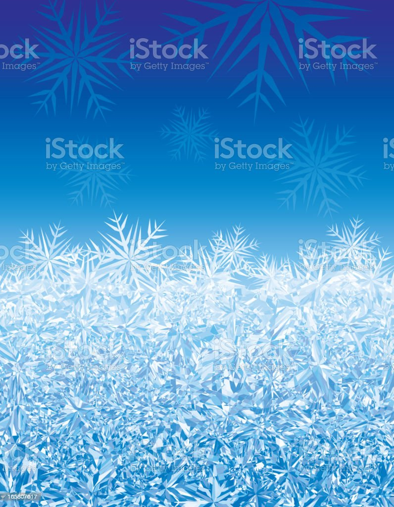 Ice background vector art illustration