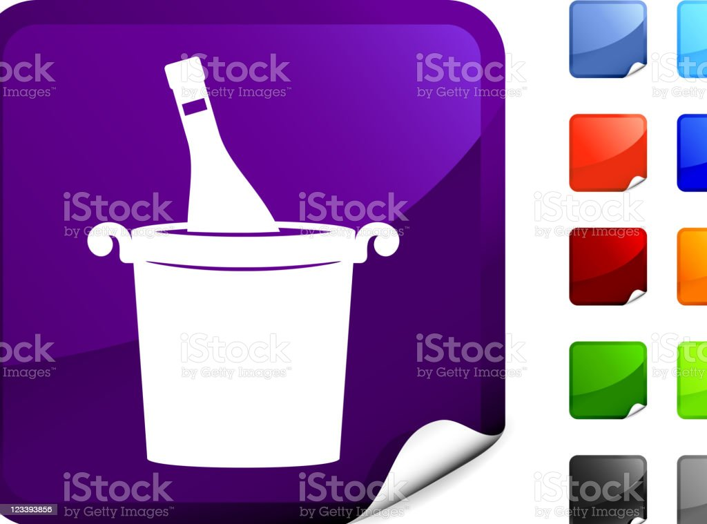 ice bucket internet icon royalty-free stock vector art