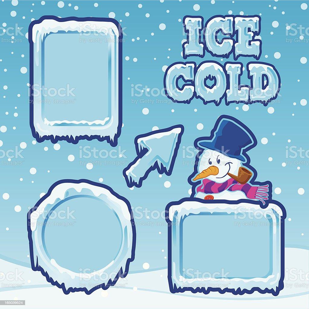 Ice Cold Frames vector art illustration