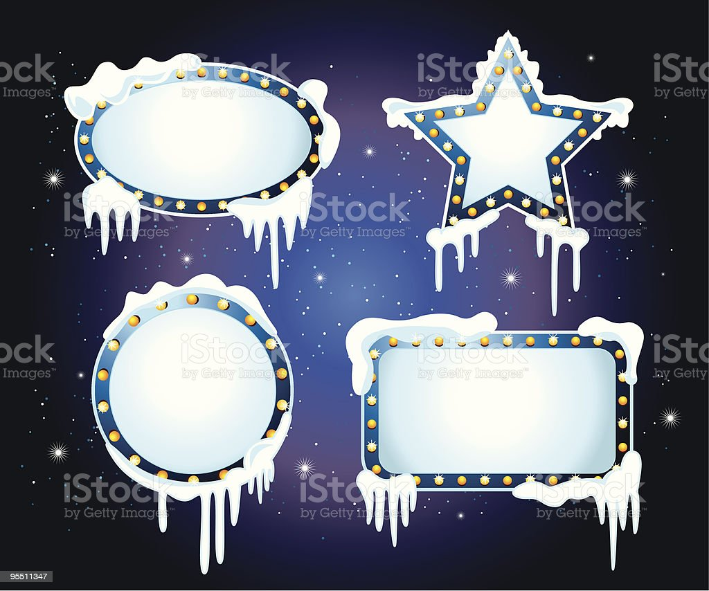 Ice Cool Banner royalty-free stock vector art