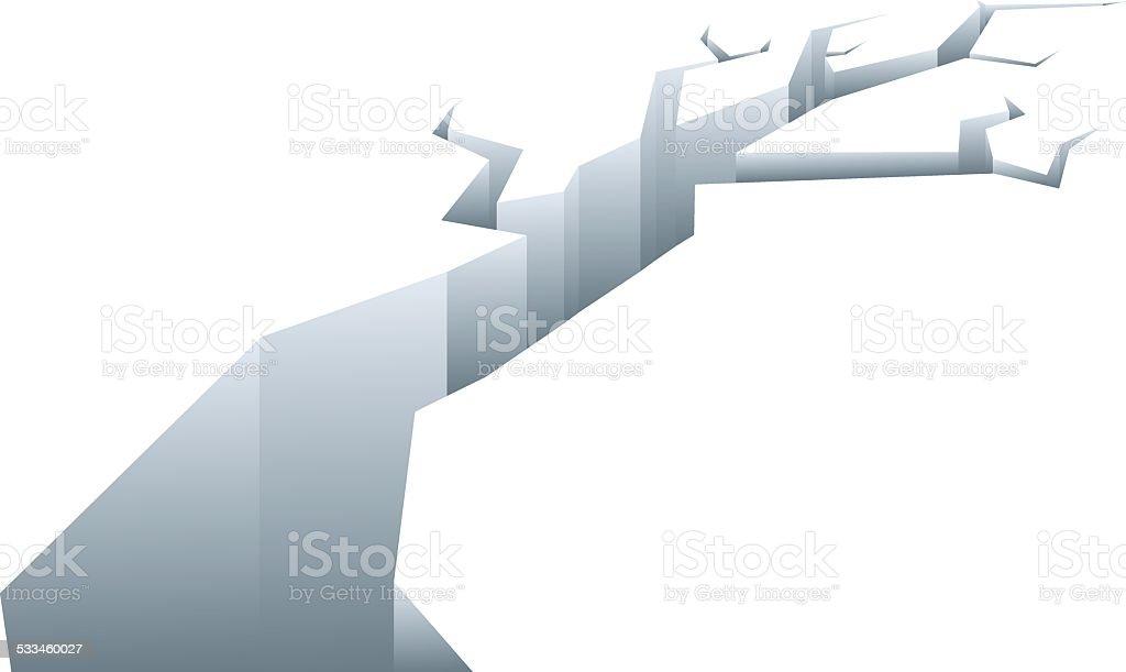 Ice Crack vector art illustration