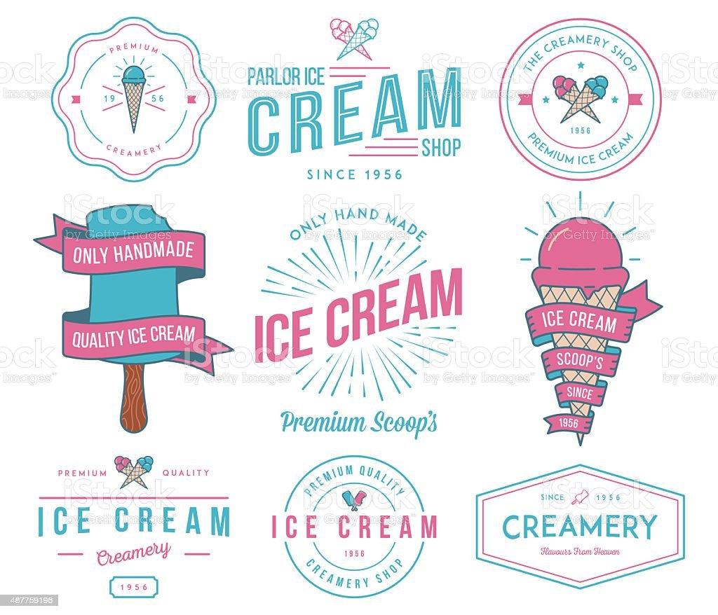 Ice Cream 2 colored vector art illustration