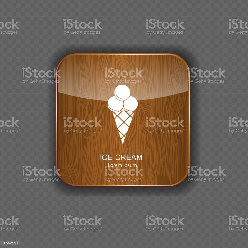 Ice cream application icons vector royalty-free stock vector art