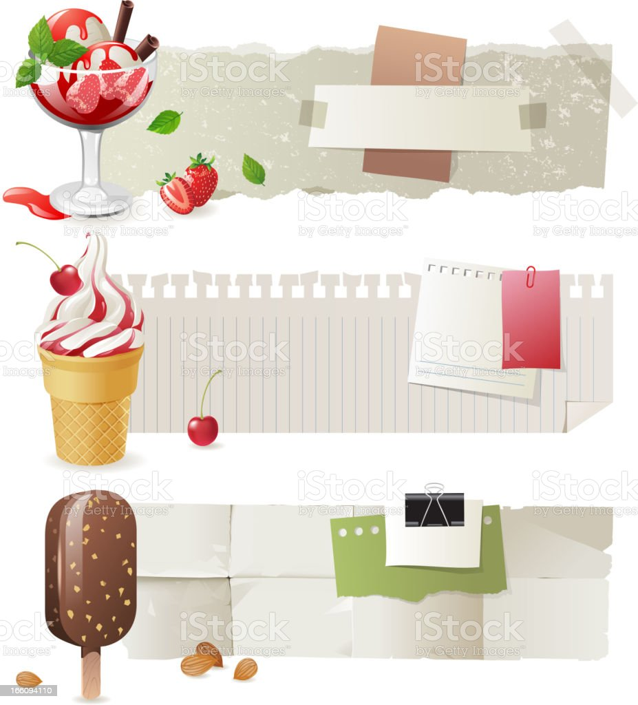 ice cream banners royalty-free stock vector art