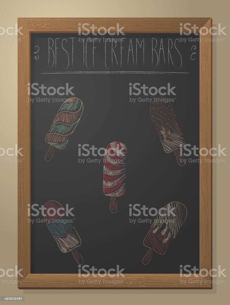 Ice cream bars royalty-free stock vector art