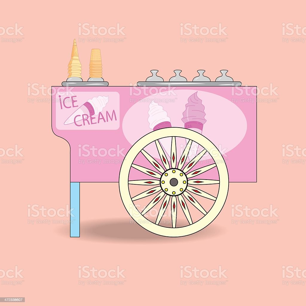Ice cream cart. royalty-free stock vector art