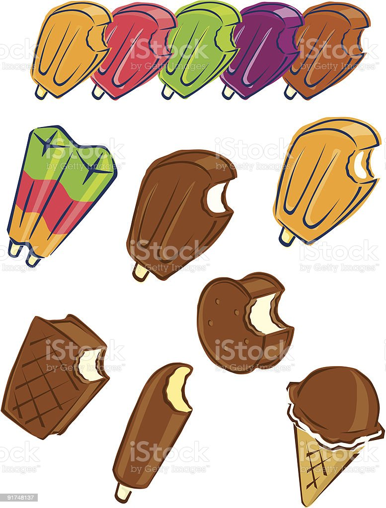 ice cream collection royalty-free stock vector art