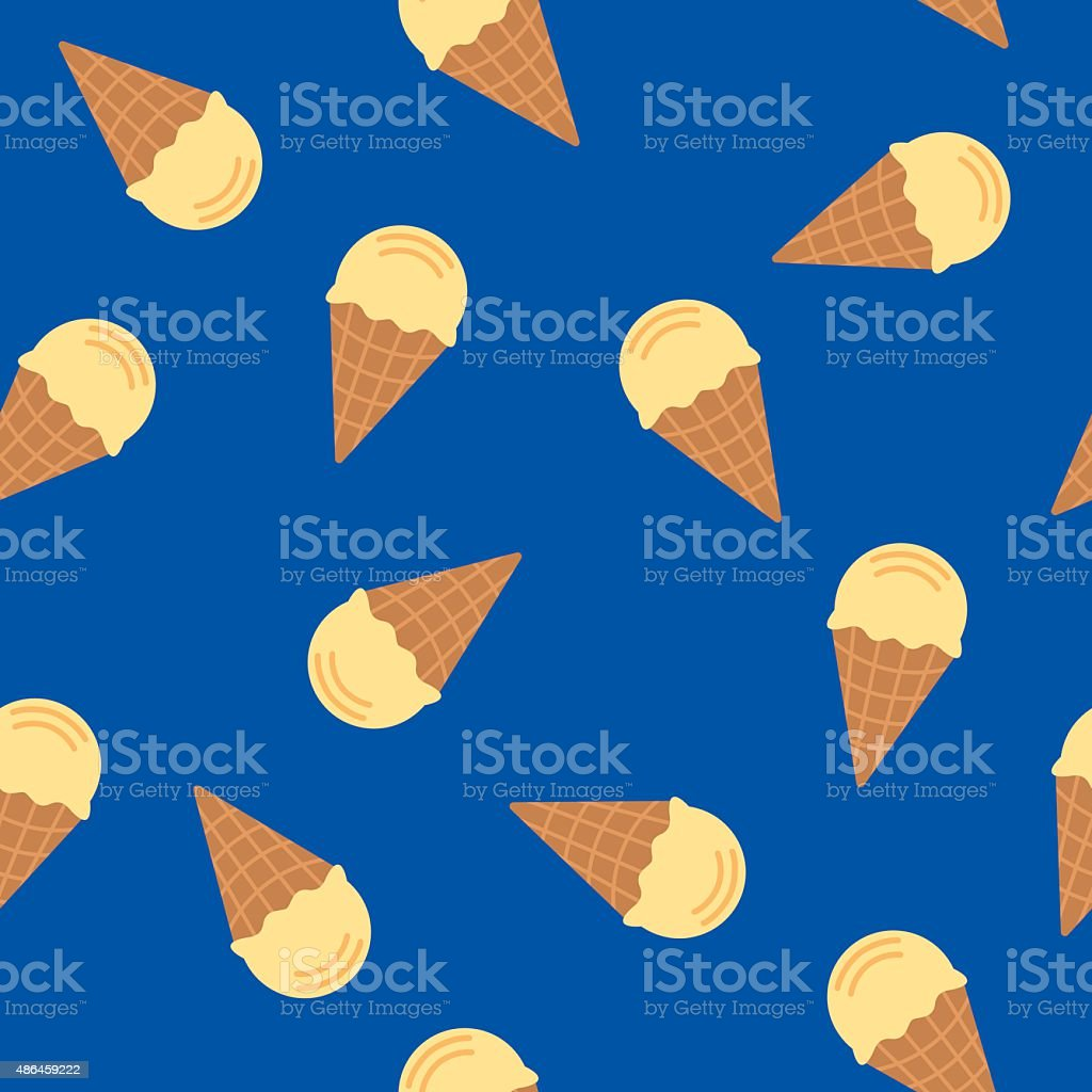 Ice Cream Cone Pattern vector art illustration