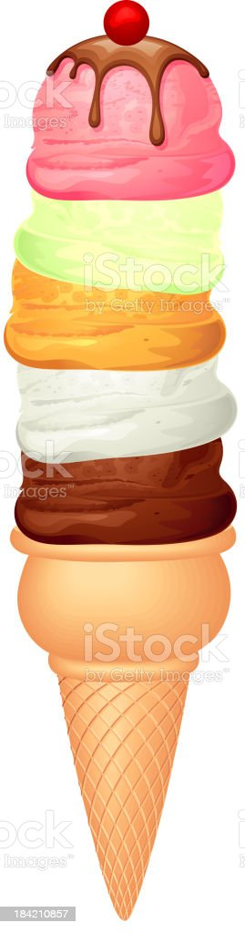 Ice Cream Cone vector art illustration