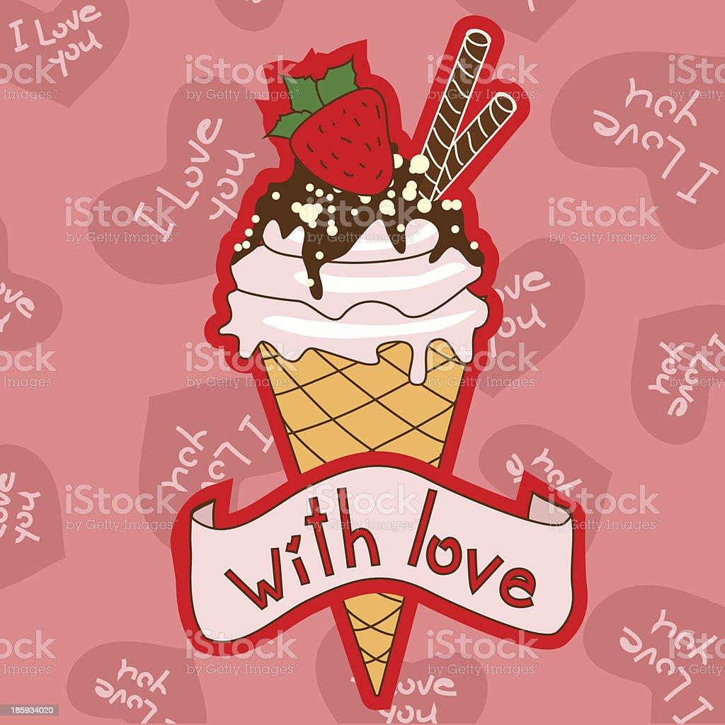 Ice cream cone royalty-free stock vector art