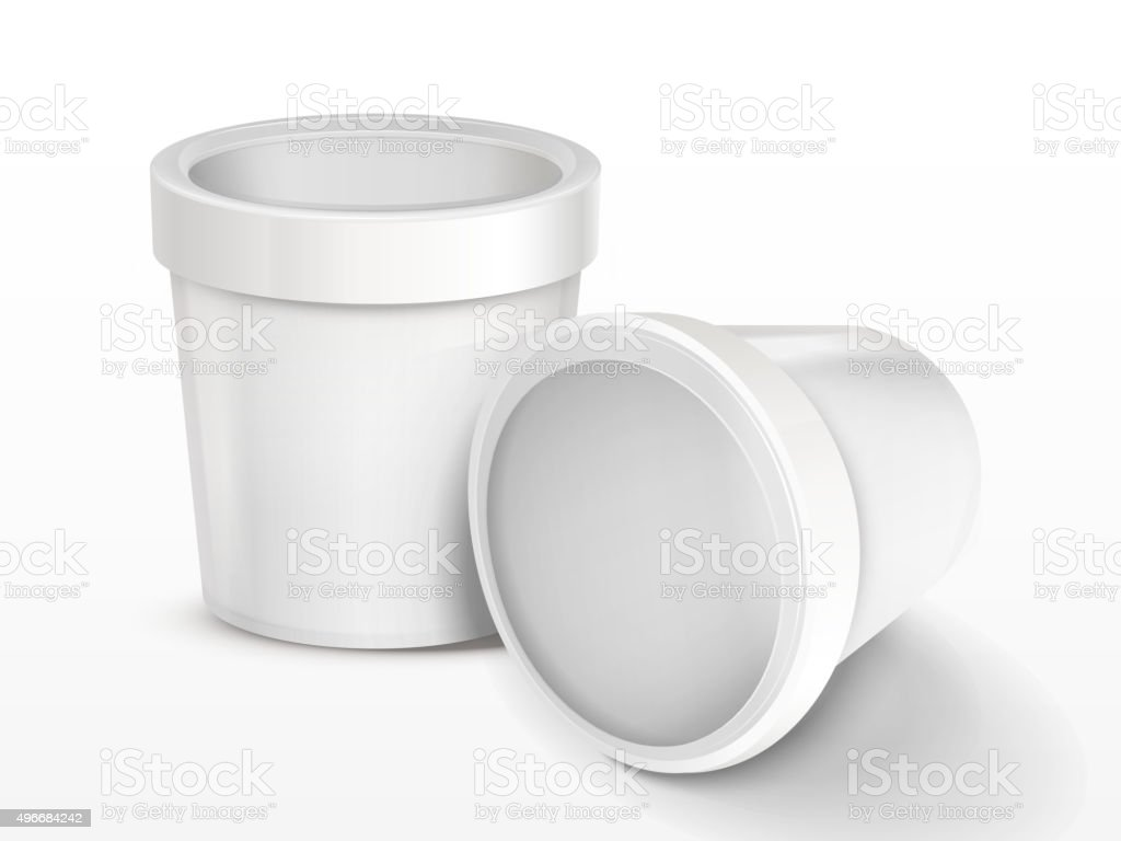 ice cream container vector art illustration