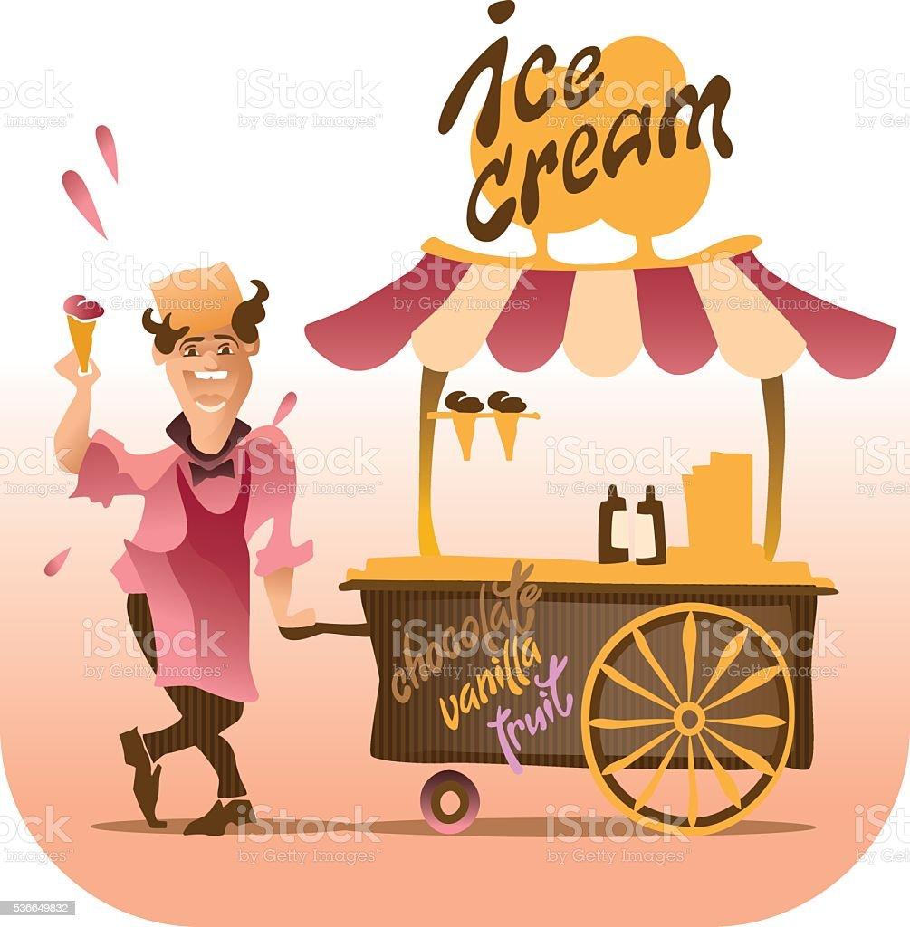 Ice Cream design elements. vector art illustration