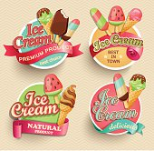 Ice cream emblems.