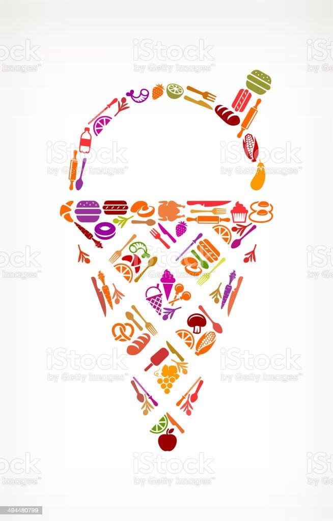 Ice Cream Food & Drink royalty free vector arts royalty-free stock vector art