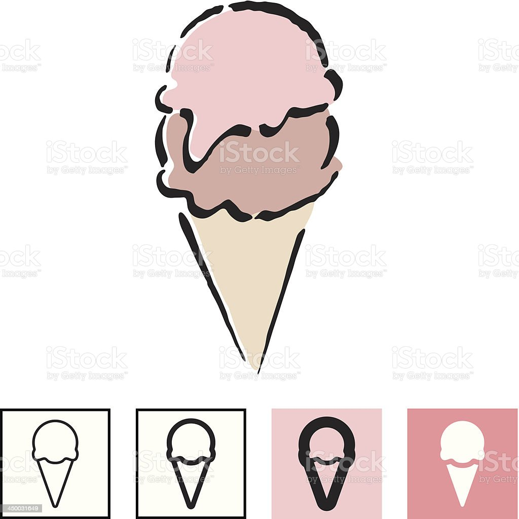 Ice cream icon set royalty-free stock vector art