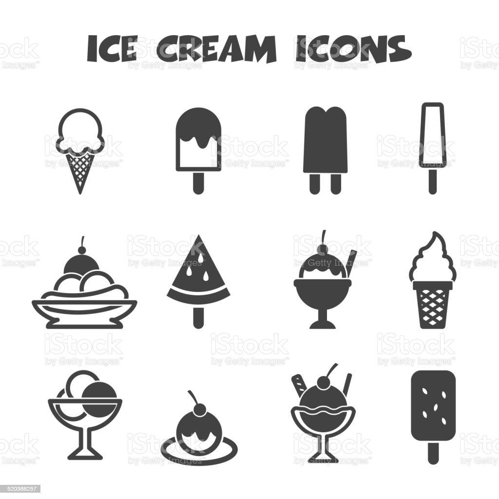 ice cream icons vector art illustration