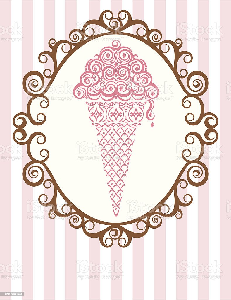 Ice Cream Parlor Frame royalty-free stock vector art