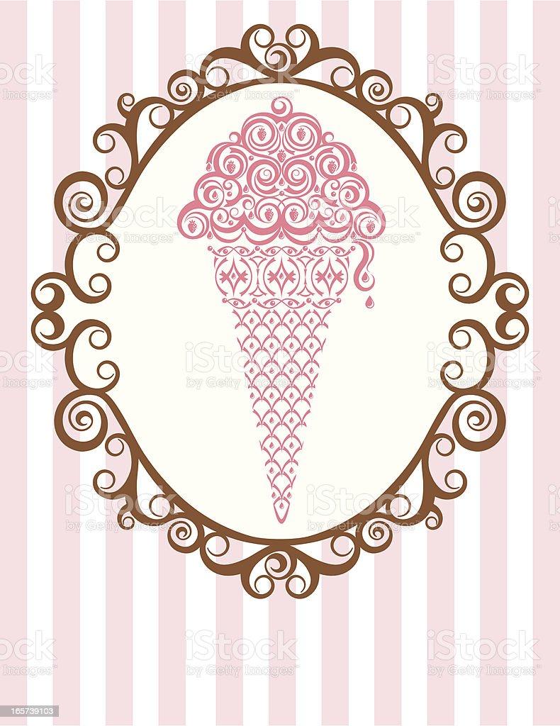 Ice Cream Parlor Frame vector art illustration